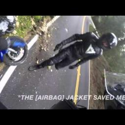 Embedded thumbnail for Motorcycle Crash with a Rider wearing Helite Airbag Protection